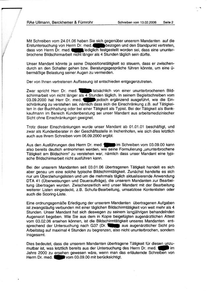 Schreiben d. RA an die SPK 13.02.2006-002