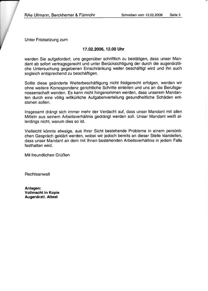 Schreiben d. RA an die SPK 13.02.2006-003